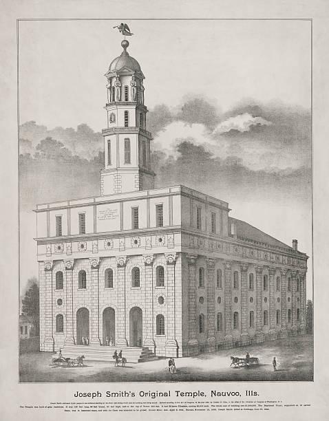 Nauvoo Temple Photo Lithograph