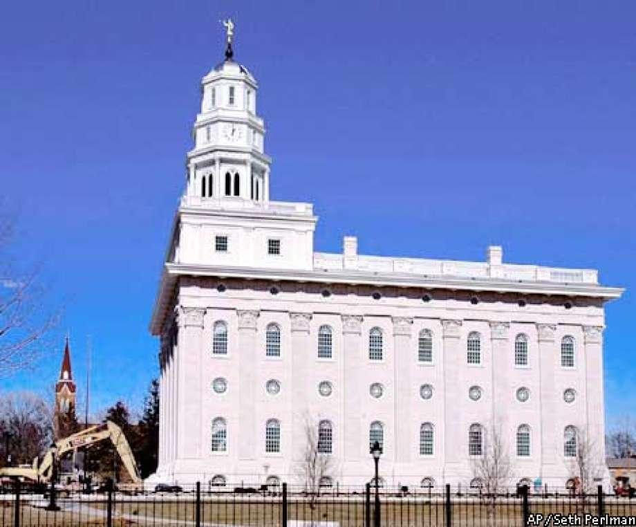 Nauvoo Temple LDS Art construction1.jpg