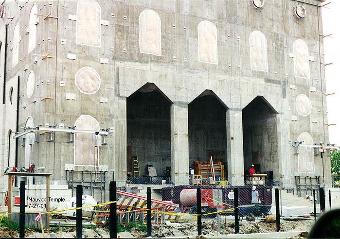 Nauvoo Temple LDS Art construction9.jpg