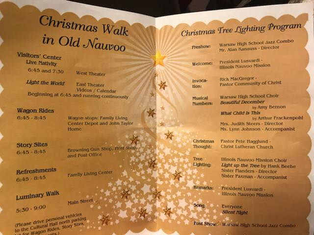 Nauvoo Illinois Christmas tree lighting