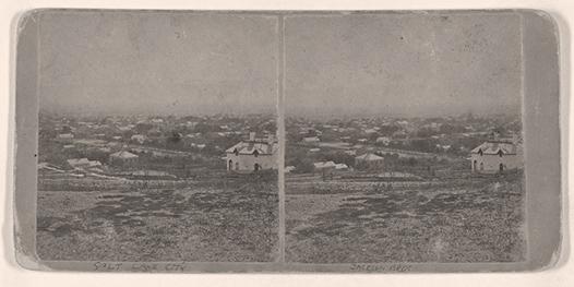 Great Salt Lake City - bird's-eye view - suburbs south west, sho