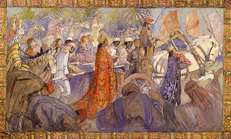 Minerva Teichert Art Return of Captive Israel,  1945, oil on canvas, Courtesy of The Church of Jesus Christ of Latter-day Saints, Relief Society Building
