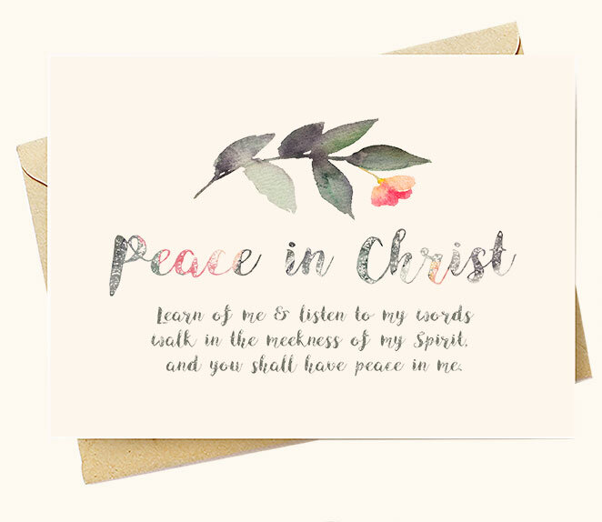 Peace in Christ - Greeting Card Set — LDS Art and LDS Temple Art ...