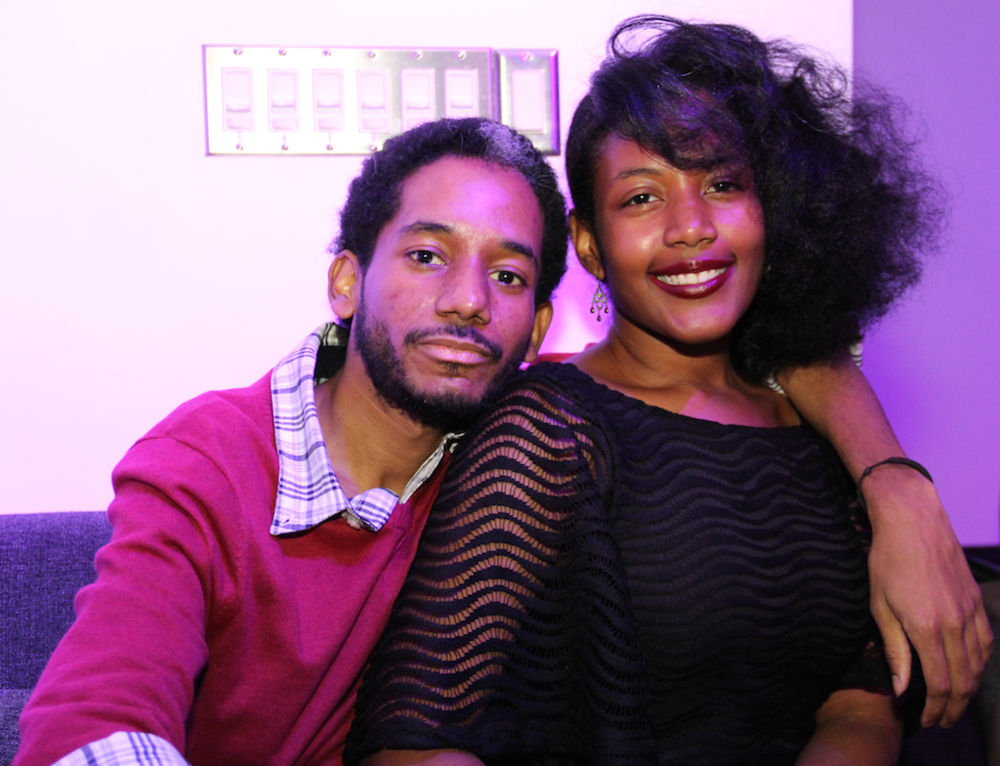 Founder & President of Bloodline Inc, Tamoya (R) and her brother, Khamali (L) at the September Social in 2014