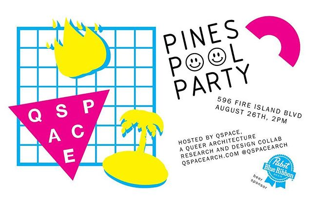THIS SATURDAY!!! We are throwing a bash from 2-6pm in Fire Island. Music, open bar, hot dogs and POOL.