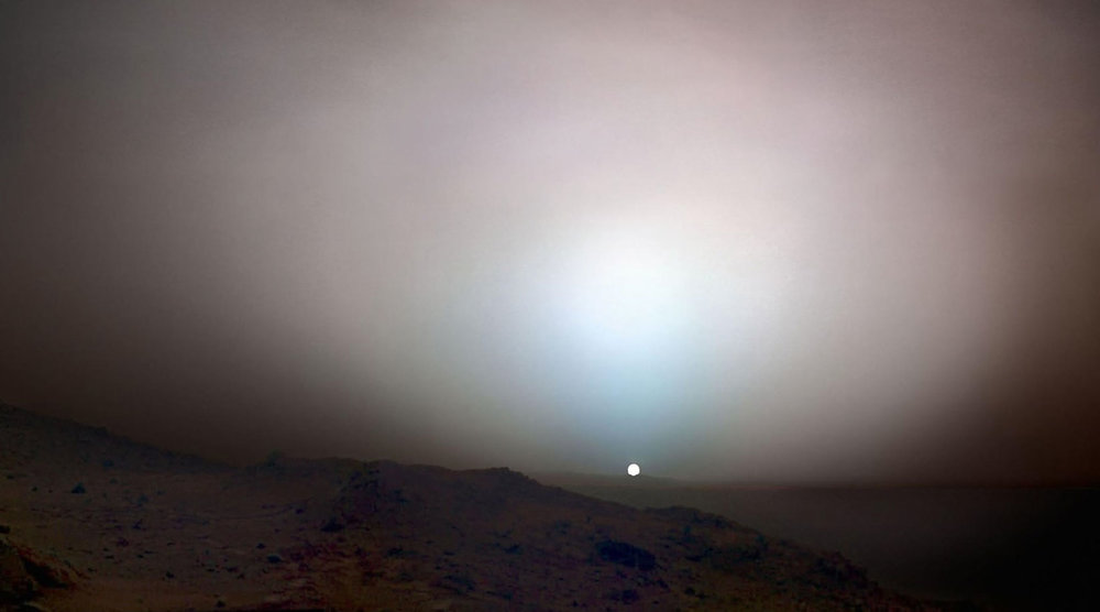 Sunset on Mars, taken on May 19, 2005 by NASA's Mars Exploration Rover Spirit