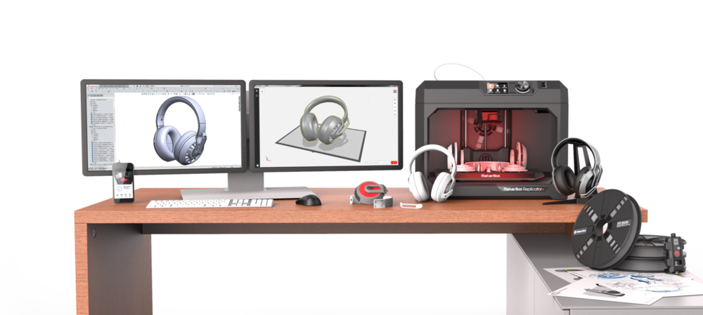 MakerBot Professional Solution - Hardware, desktop and mobile app workflows, and materials designed to meet the needs of professionals