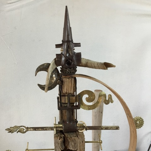 3' x 2' Not available Found objects. Wood, bone, metal, glass, string, rudraksha beads, horn.