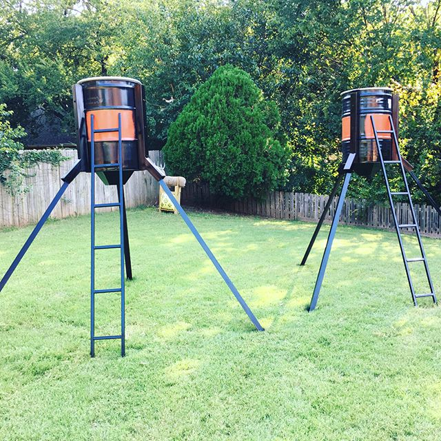 Cranked out a couple of 50 pound deer feeders today. Super easy installation easily a one man operation. Trapezoid funnel ready for motor attachment. They each hold 7- 50 pound bags of corn. . . . #schwarkmetal #deerfeeder #metal #tough #builttolast #bowhunting #rifle #foodplot #whitetail #bigbucks #hunting #hurryupoctober #50