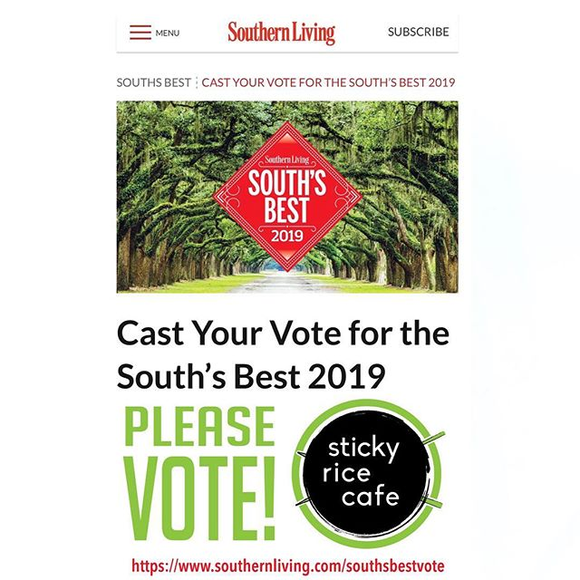 We are SO EXCITED to have been nominated for Southern Living's South's Best of 2019!!!!! Please go vote for us! We were nominated for best restaurant in Tennessee! Voting only takes a couple of minutes and no account sign-up needed. We appreciate all of you and are looking forward to being a part of Knoxville's food scene for many years to come! 😁🤩😁 https://www.southernliving.com/southsbestvote (link in bio)