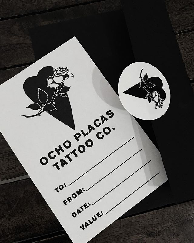 🖤 We have gift certificates available in a fresh new design and sleek black envelope with our new logo sticker. Skip the lines and get someone you love an unforgettable gift this holiday season 🖤
