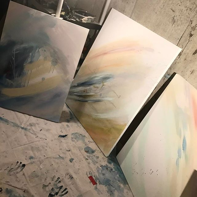 Hoping to get these finished in time for next final Friday at the Pendleton !  #abstractart #painting #oiloncanvas #art #workinprogress