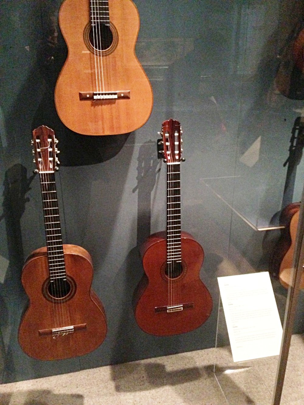 Guitar Display at Metropolitan Museum of Art, New York.