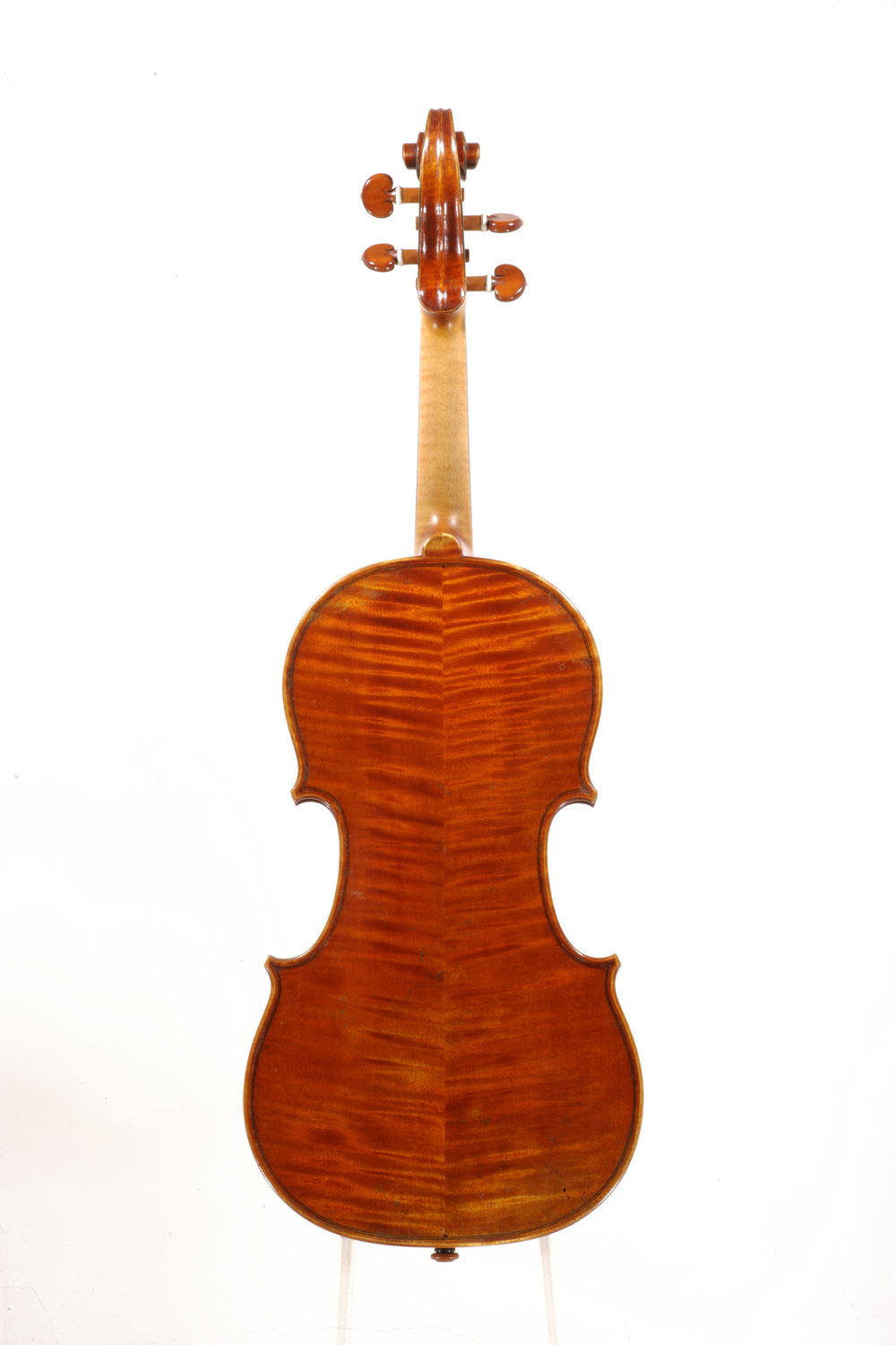 Back of the 1996 Grubaugh & Seifert violin.