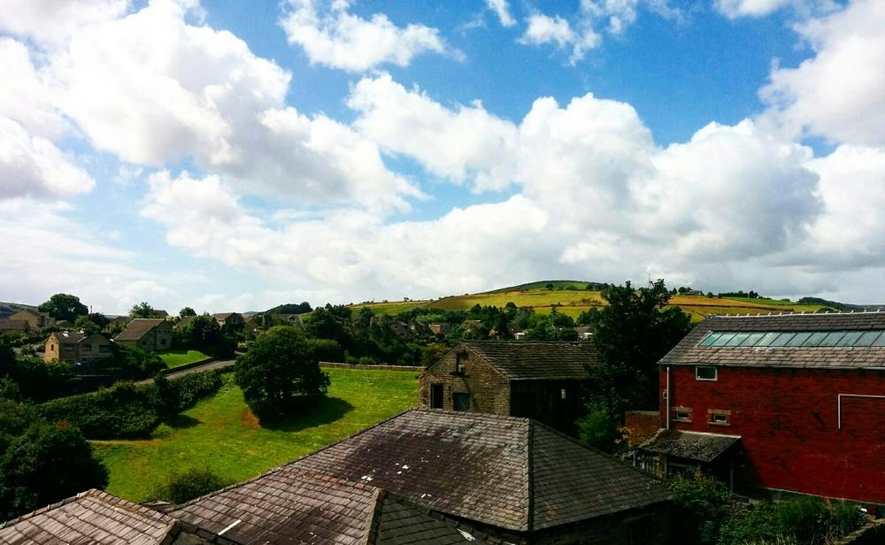 Utsikten från vardagsrumsfönstret.
