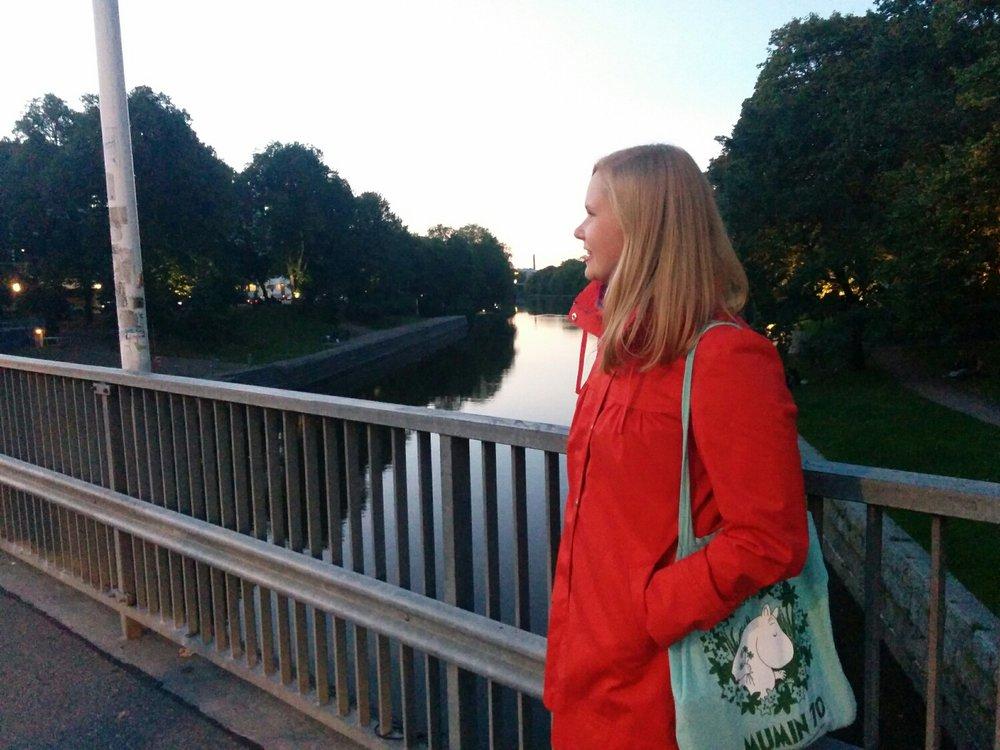 Anne insisterade på photo shoot på bron.