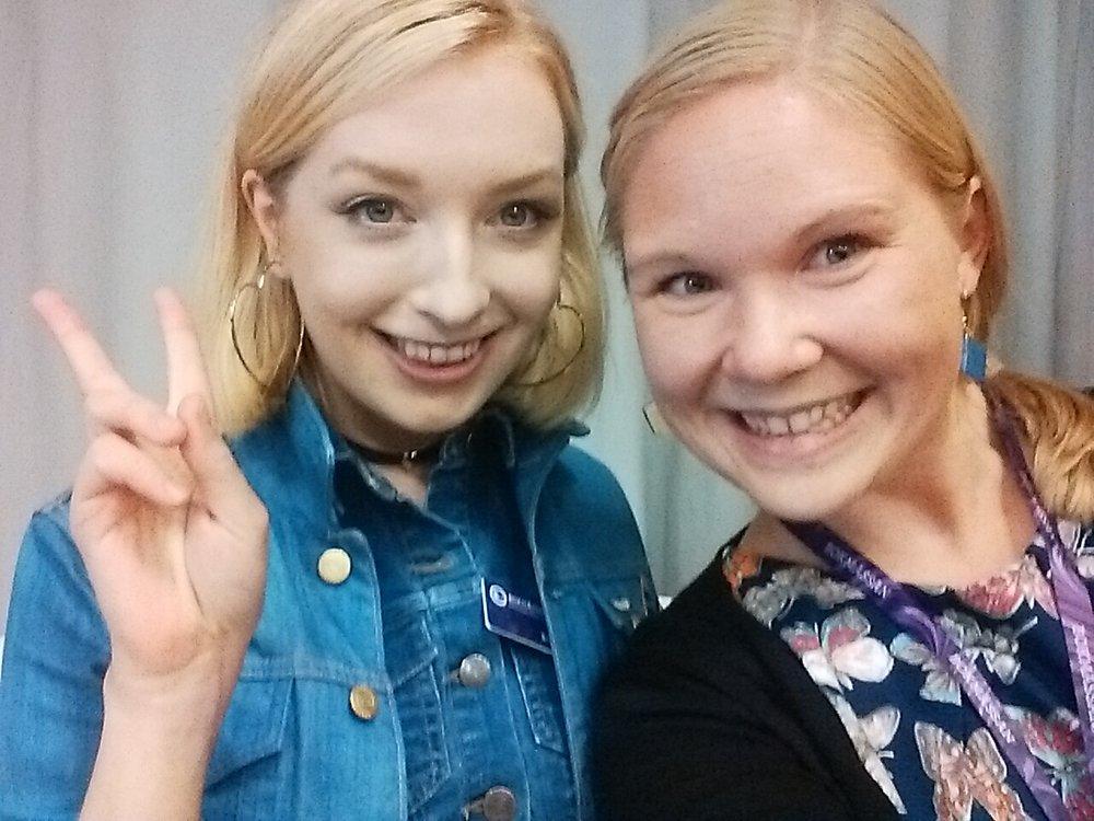 En av mina selfies med Sandra. Hon var så himla härlig!