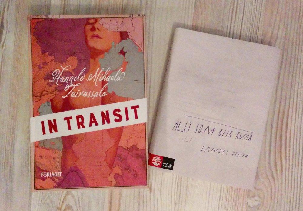 Inspirerande böcker både utanpå och inuti (men In transit har jag inte börjat läsa ännu).