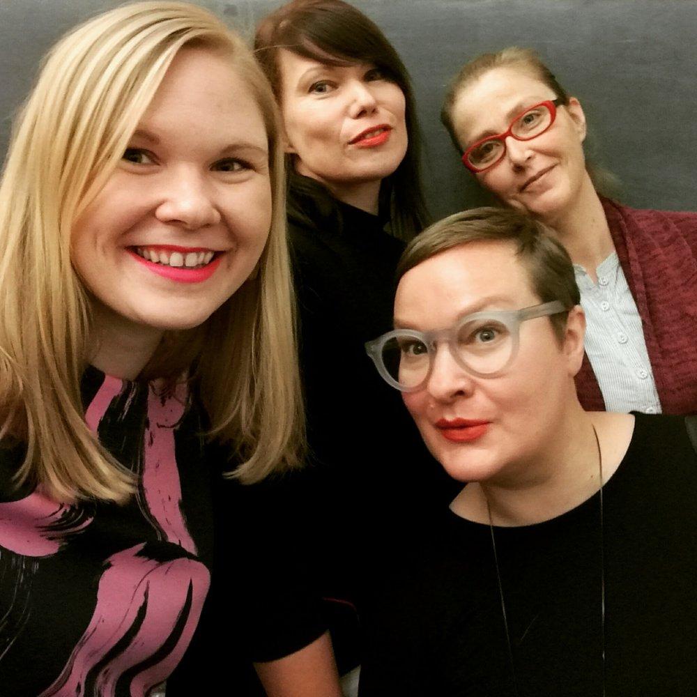 Det var så roligt att få intervju Hannele Mikaela Taivassalo, Minna Lindeberg och Sanna Tahvanainen i lördags!