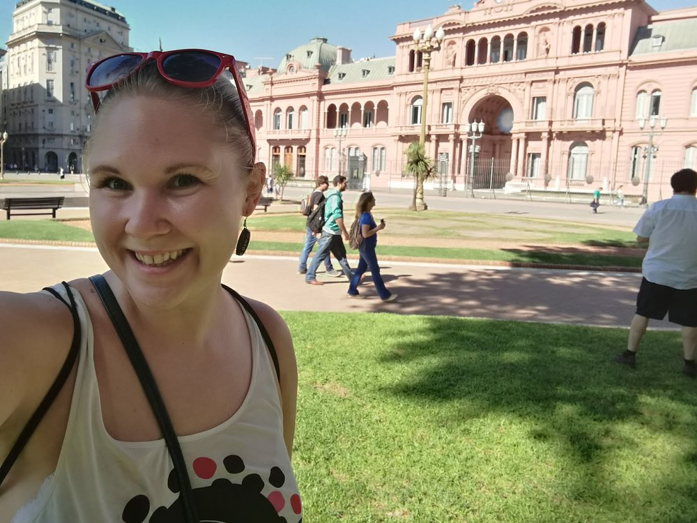 I turistens topp5 i Buenos Aires: La casa rosada (presidentpalatset).