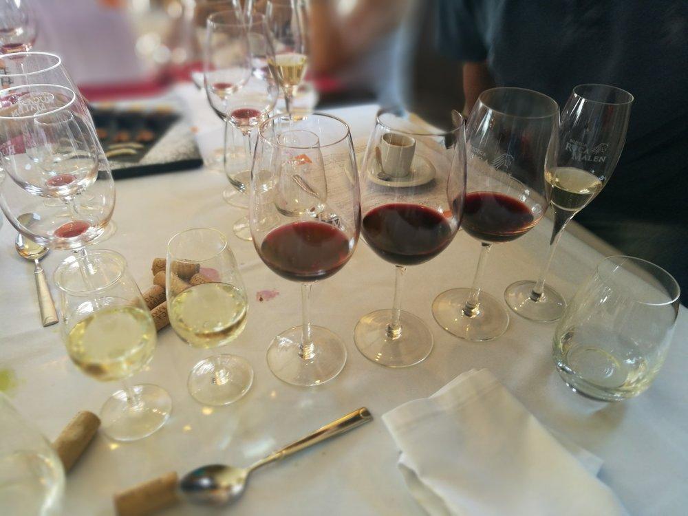 Lunchens viner. Alla goda så klart.