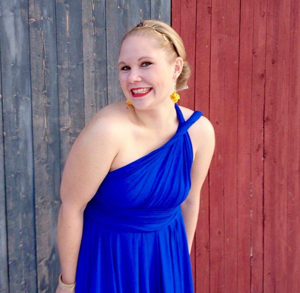 Hittills har jag haft min underbara klänning från E/S Design bara en gång. Men i år ska den nog få gå på fest igen!