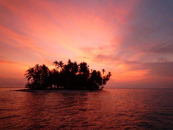 San Blas-öarna i Panama.