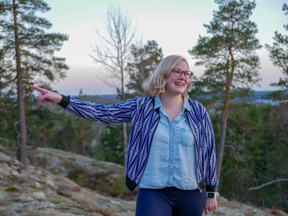"""Här pekar jag mot framtiden och säger """"här kommer jag!"""". Foto:  Malin ."""