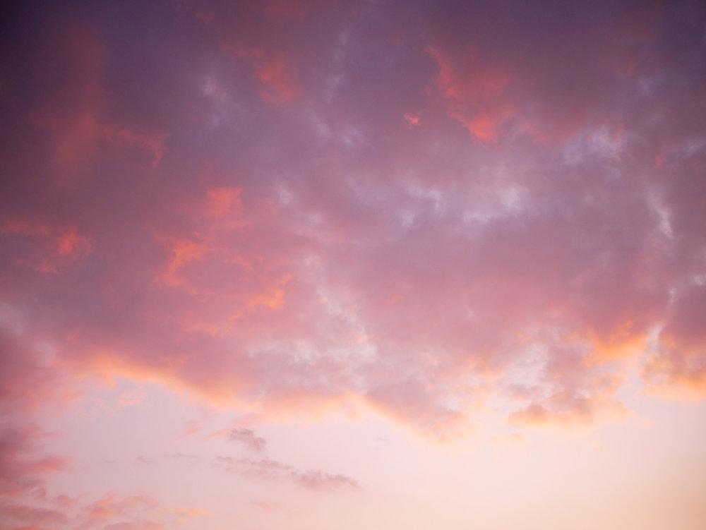 Gårdagens solnedgång.