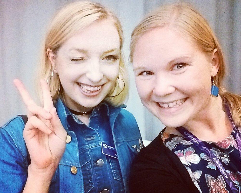 En höjdpunkt 2016: att träffa Sandra Beijer och få en kompisbild på oss!