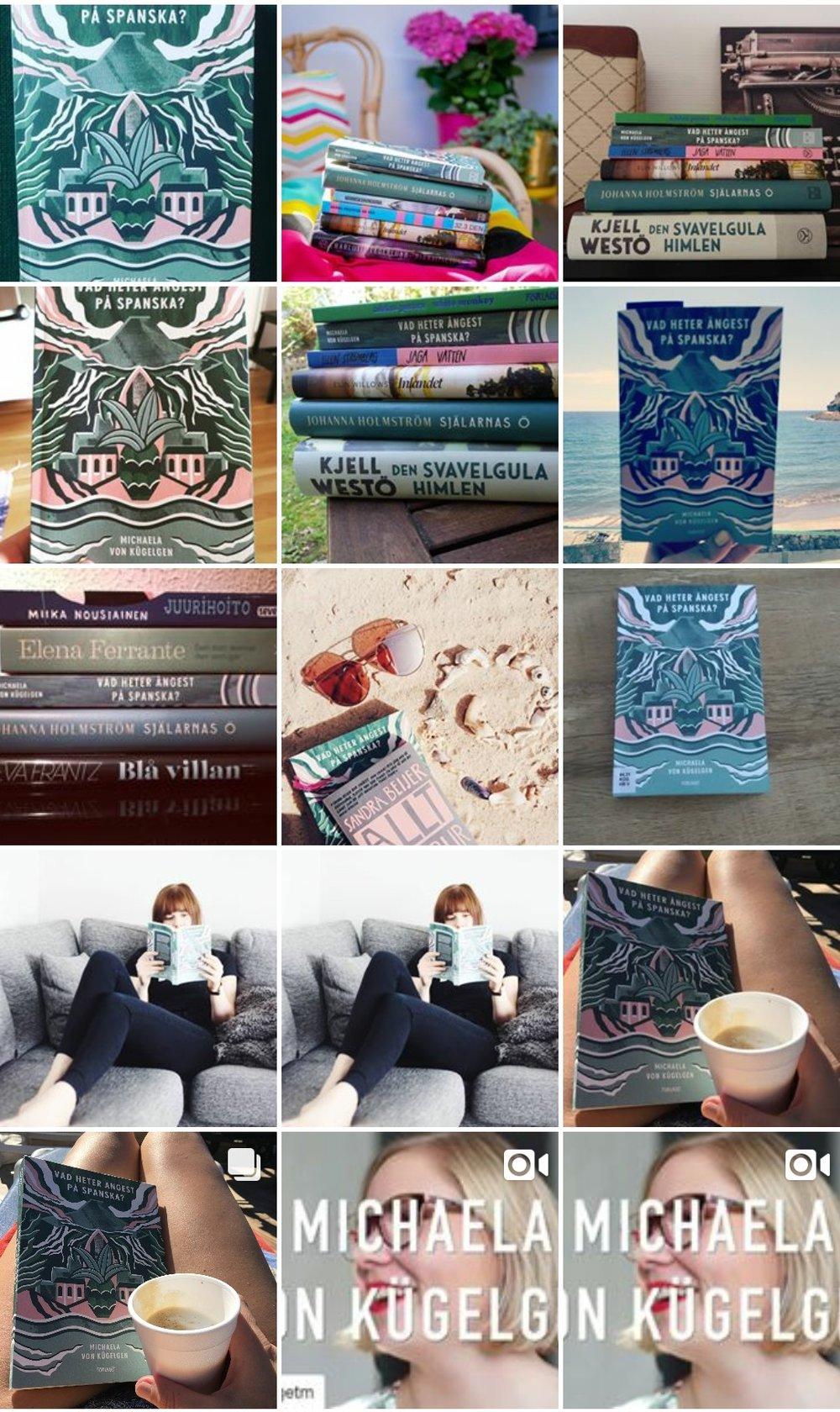 Bilder under hashtaggen #vadheterångestpåspanska på Instagram.