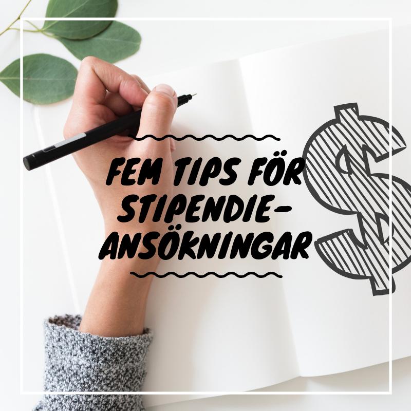 Tips för att söka stipendier - Ska du söka ett stipendium men osäker på hur du egentligen ska göra? Jag delar med mig av fem tips du ska tänka på!
