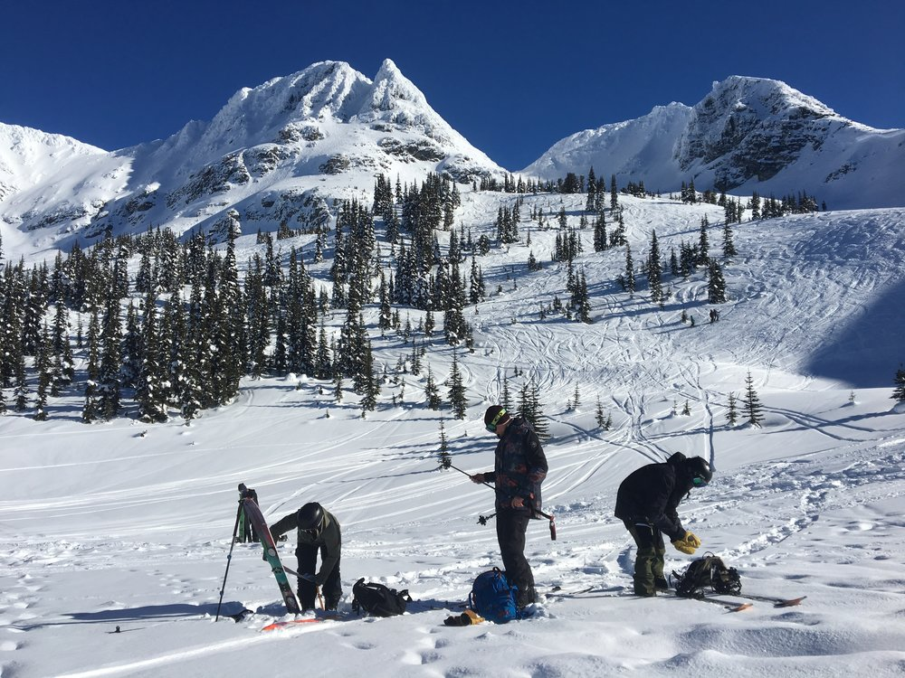 Streamlining transitions in the Blackcomb sidecountry