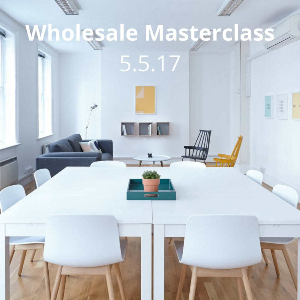 MAY'S WHOLESALE WORKSHOP  Central London, Friday, 5th of May 10am-12pm  Last chance to sign up! Our two-hour group workshop will cover all the essentials for wholesale success, enabling you to maximise your brand's potential and develop a wholesale strategy with complete confidence.  Tickets are £65 and can be purchased  online   here .   Interested, but can't make the date? Pop us an  email  as we are currently scheduling the next sessions.