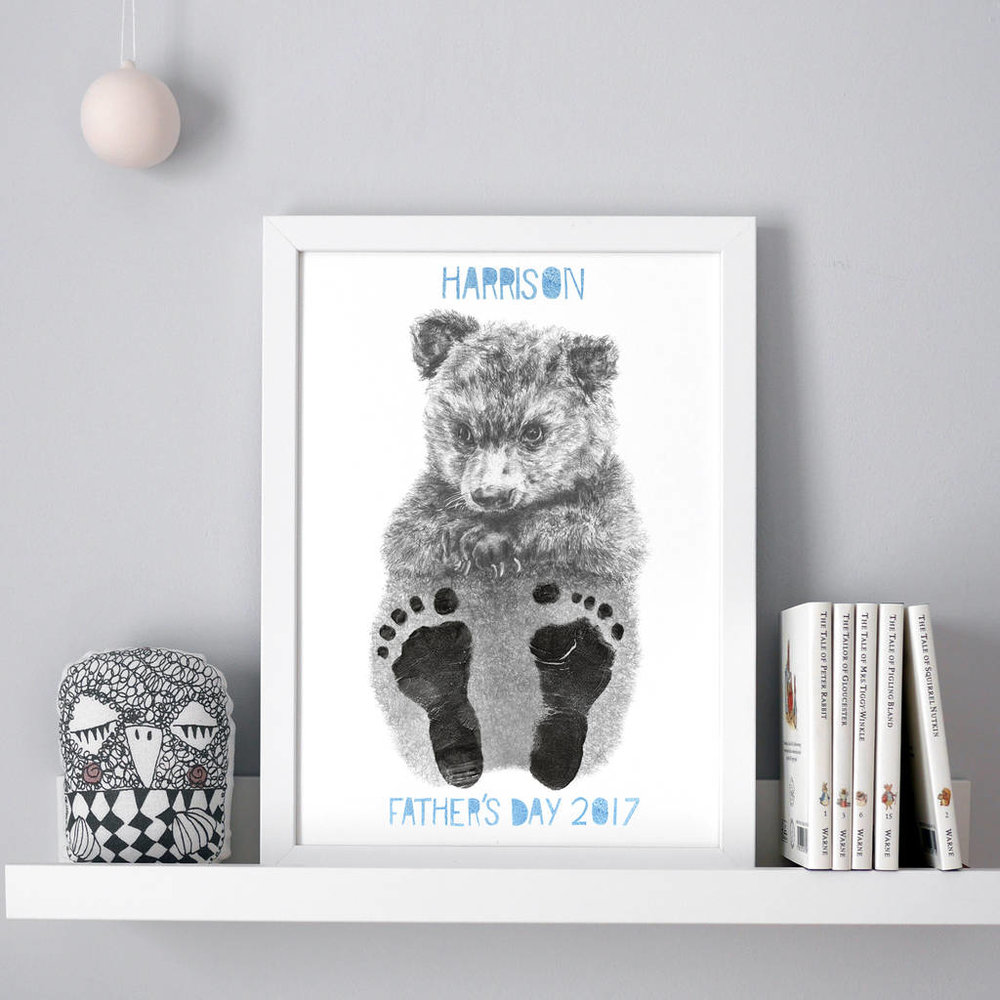 First Father's Day Baby Animal Footprint Kit - £20  www.coggleandbear.com