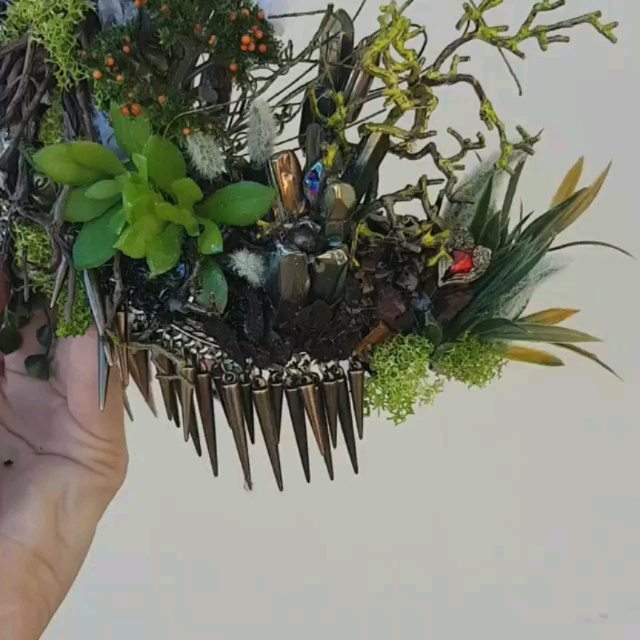 "Throw back to my favorite crown I've  ever created. My interpretation of the ""in between"" from *the lovely bones* book/movie made into a crown! It is SO far from perfect but I love looking back on the imperfections and how far i have come.  I want to make more like this and really challenge my creativity, I'd love some suggestions.. what movie/book/series/theme would you like to see me create into a crown?  #thelovelybones #theinbetween #crystalcrown #art #flowercrown #mermaidcrown"