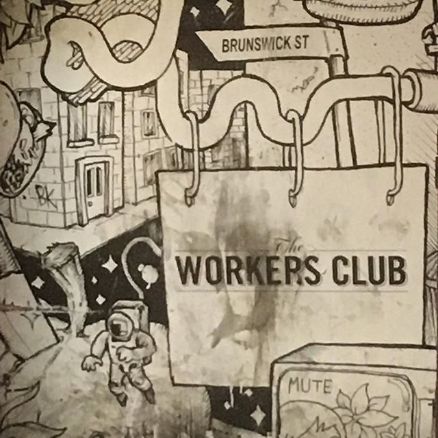 Soundchecked & ready  #workersclub #workersclubfitzroy #brunswickstfitzroy #graffiti #indierock #singersongwriter
