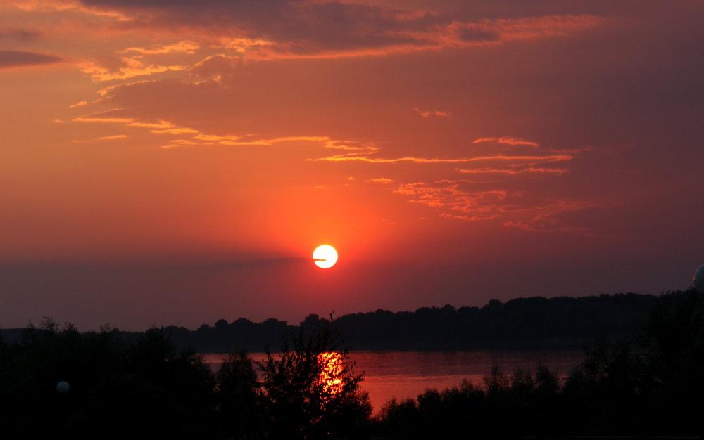 Sunset on the Danube river, Tutrakan, 2013