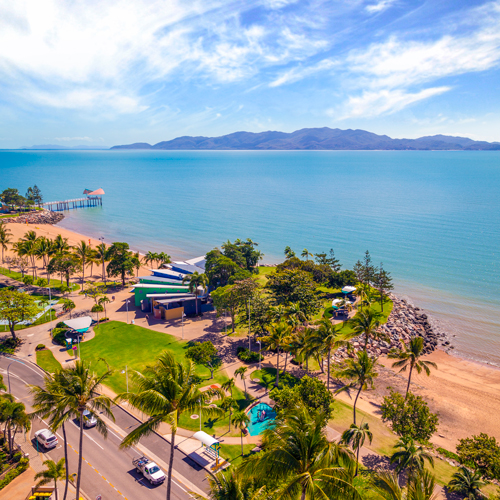 View to Magnetic Island from The Strand, Townsville North Queensland