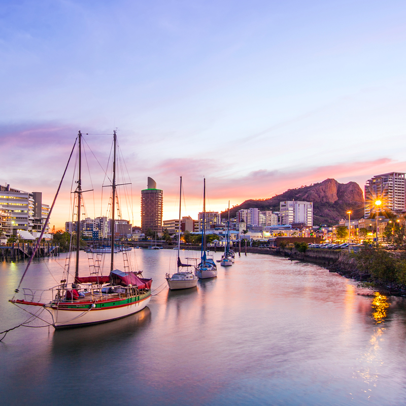 Townsville City at sunset by Megan MacKinnon