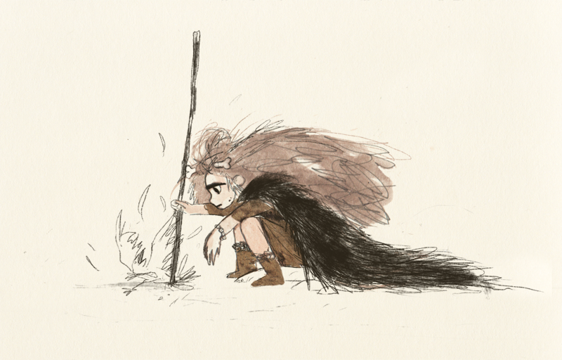 Sunday's little ruthless hunter sketch~  That's actually one of the characters i've been developing  (or rather decided to develop itself in my sketchbooks…)  lately for fun. Let me know if you'd want some more of her !  Some more daily doodles   over here