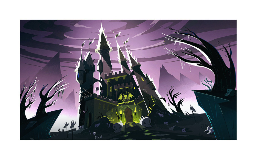 Here's a background painting i did last year forDaron Nefcy's show   Star vs the forces of evil   (With the amazing Parpan's brothers doing the art direction! ) This one painting -my very first for the show actually o.o - is featured in the first episode which is officially airing march 30th, so be sure to watch guys! :)