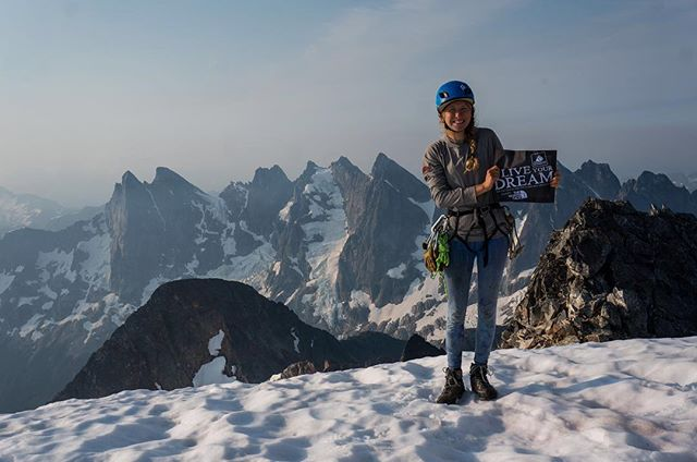 """Hey Everyone! Live Your Dream Grant applications are due on March 31 no later than 11:59pm (MST). So in case you needed some extra inspiration to finish your application, we have one more Live Your Dream grant story to share with you from Lani [@goatsonropes], and her climb of the North Buttress of Mt. Fury in the Pickets.⠀ ⠀ """"The North Cascades, and the Pickets in particular, have a beautiful, terrifying intensity. A hearty thanks to @americanalpine and @thenorthface for making this dream possible with a #liveyourdream grant. My goal for these next few days is to provoke reflection about the role mountains play in our lives and how we make decisions in challenging situations. Also, I encourage you to check out the Pickets, they are a gem of Washington and worth a trip. ⠀ ⠀ Our trip was a reminder of the unyielding indifference and power of the mountains. I was content to walk away after having to navigate a glacier in a whiteout. When the clouds cleared on our second day approaching, our hearts stopped. We found ourselves staring at the most intimidating buttress we had ever seen. By the numbers the North Buttress of Mt Fury is 4000 feet of climbing with 5.9 pitches and abundant steep snow. Factor in rock fall hazard, bergschrunds, run-out chossy pitches, thunderstorms and a vague route description, you become acutely aware of how far you are from help. It is hard to find something that feels truly remote in the lower 48. Mt Fury is about as off the beaten track as it gets. Our plan was to do a Pickets traverse in four days, including Mt Fury. As soon as we saw the late season conditions of the North Buttress, we knew the buttress would be a feat in itself."""" ⠀ ⠀ Photo: @thepursuitofalpenglow⠀ ⠀ #aacgram #americanalpineclub #thenorthface #neverstopexploring #shemovesmountains #accesscommunity #womenontheroad #natgeoyourshot #womenwhoexplore #andshesdopetoo #ladycrushers #fortheloveofclimbing #tradisrad #tradclimbing #unitedwesend #alpineclimbing #cascadeclimbers #pn"""