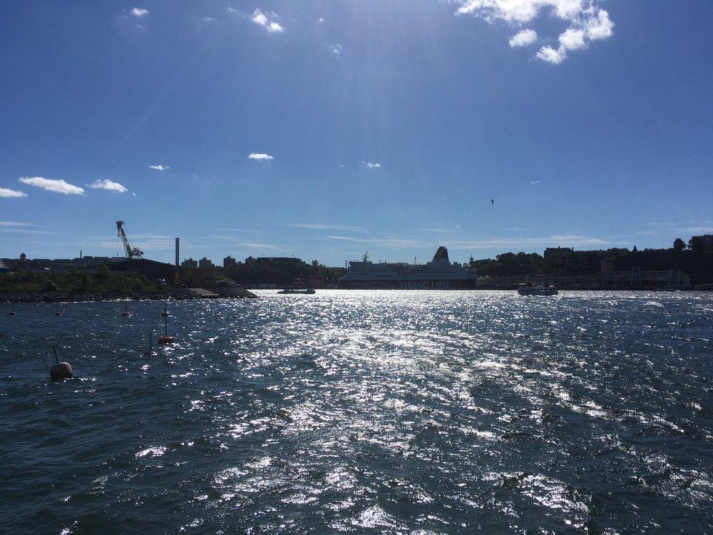 Näkymä Södermalmille Gröna Lundista.