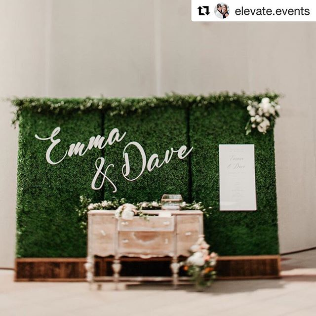 Check out our custom laser cut sign!  #Repost @elevate.events with @get_repost ・・・ What do you do when an unsightly wall of bathrooms is the first thing to greet the guests as they enter your ceremony? Turn a negative into a positive, of course! ➕ It was SUCH a pleasure designing this day and vignette for Emma and Dave - with a gardeny, bright, Mediterranean style as the inspiration and the help of some incredible local vendors, we'd say this bathroom wall ended up as a super charming entrance! 🌿 Who is excited to see more from this beautiful wedding?! 📷: @hrudka of @paperantler . #boxwoodwall #customcutouts #ElevateEvents #elevateeventswedding #elevateweddings #eventsbyelevate #elevaterealwedding #wisconsinweddingplanner #madisonweddingplanner #weddingdesigner #wisconsinwedding #sarahantler #madisonwi