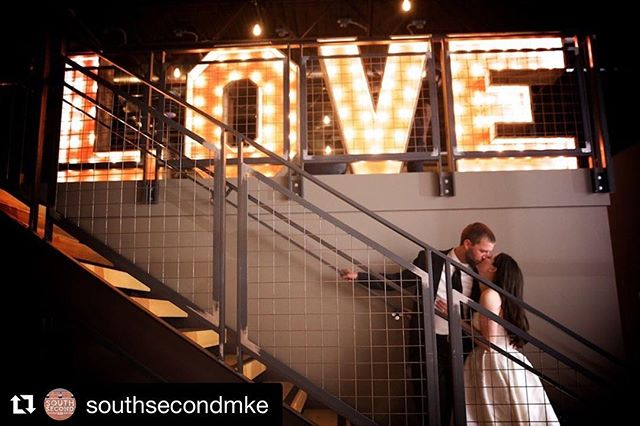 #Repost @southsecondmke with @get_repost ・・・ All we need is L-O-V-E. Thanks for the great shot, @bradryanphotography! #itsallhere #southsecondmke | #wedding #weddinginspo #weddingday #weddings #southsecondwedding #ezpzmarquee #marriedinmilwaukee #love #weddingvenue #milwaukeeweddingvenue #weddingdecor #weddingstyle #couple #brideandgroom