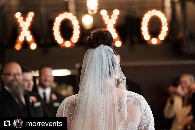 "Add some serious style to your venue with our 36"" XOXO Marquee letters! Message us for more info on our rentals!  #Repost @morrevents with @get_repost ・・・ Gazing upon her groom's love letters to her...all you need is love. 📸: @ryandavisphoto . . . #allyouneedislove #loveletters #southsecondmke #xoxo #southsecondwedding #edgywedding #milwaukeeweddingplanner #morrevents #morreventsweddings"
