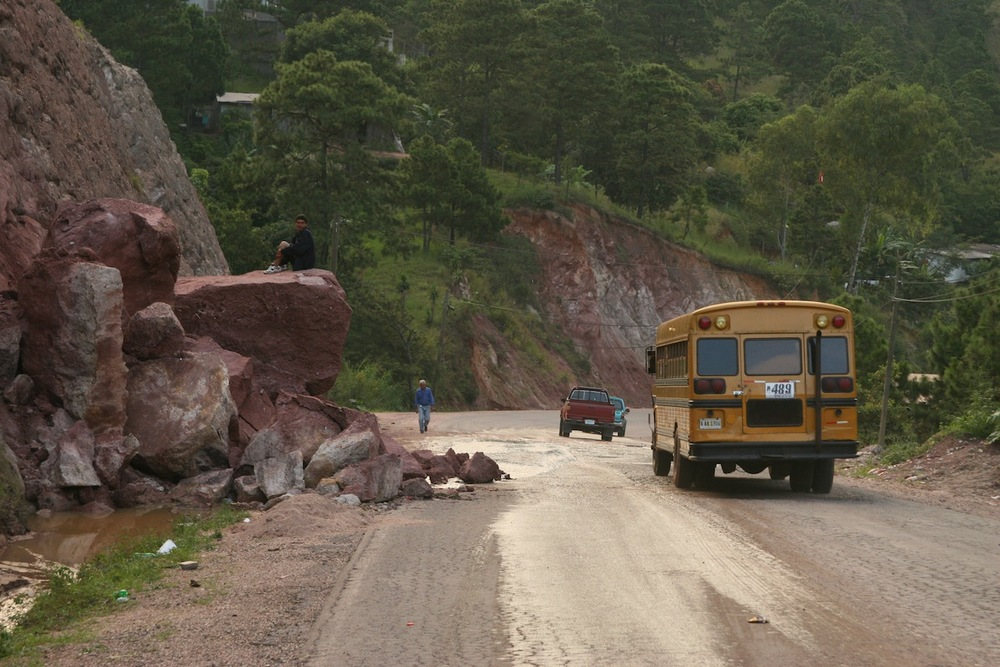 You never know what you will encounter on the road between Jovenes en Camino and the capital, Tegucigalpa.