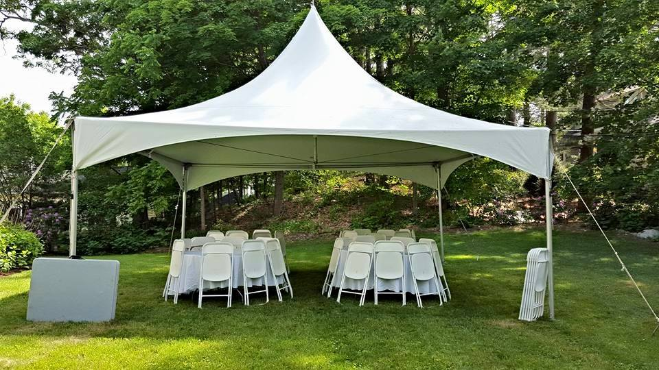 Beau The 40 Person Package Includes A 20x20 High Peak Tent, With (4) Round  Tables, (40) White Folding Chairs, And (2) Long Tables For Food/gifts, Plus  Delivery, ...