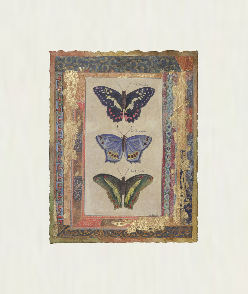 "Petits Papillons Bleus  9""x7"""